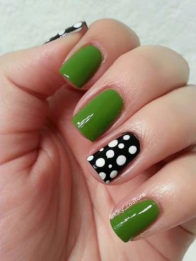 Πράσινα νύχια σε διάφορες αποχρώσεις (6)