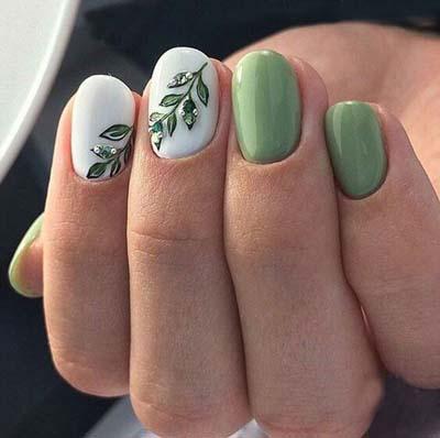 Πράσινα νύχια σε διάφορες αποχρώσεις (7)