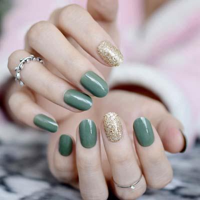 Πράσινα νύχια σε διάφορες αποχρώσεις (10)