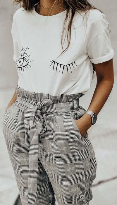 Street style και casual ντυσίματα με paper bag παντελόνι (1)
