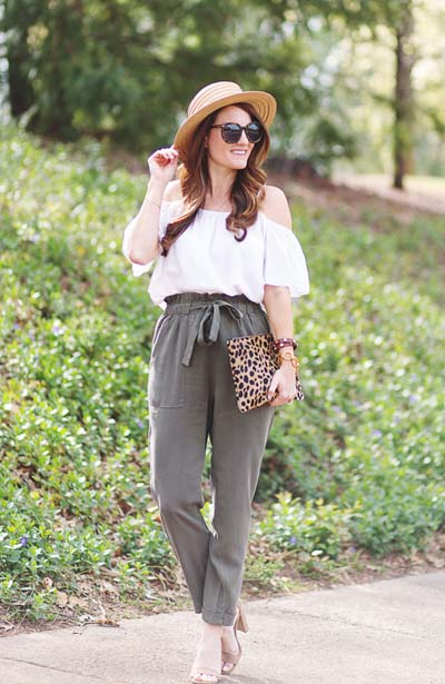 Street style και casual ντυσίματα με paper bag παντελόνι (3)