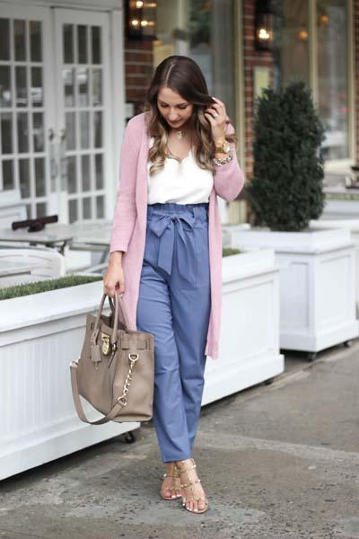 Street style και casual ντυσίματα με paper bag παντελόνι (4)