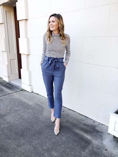 Street style και casual ντυσίματα με paper bag παντελόνι (5)