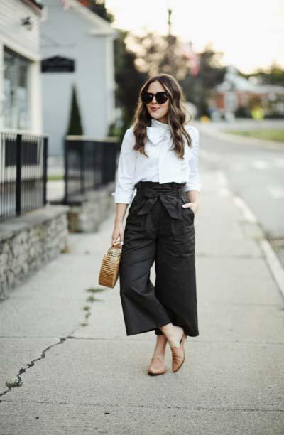 Street style και casual ντυσίματα με paper bag παντελόνι (6)