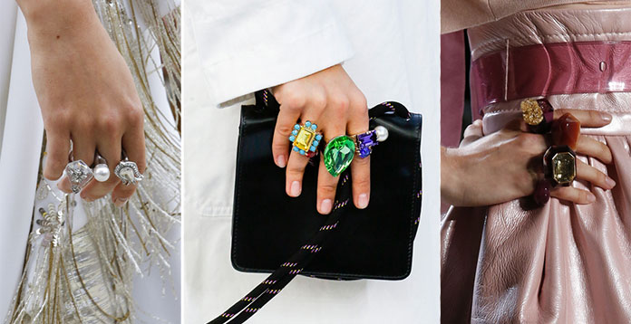 Πολλά δαχτυλίδια, μια τάση για την Άνοιξη και το Καλοκαίρι 2019