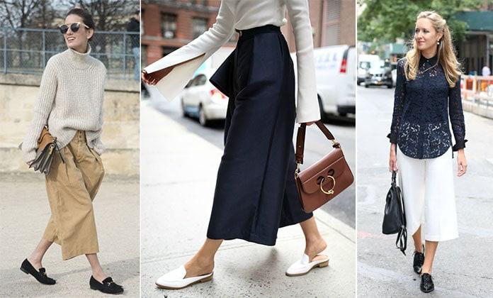 Ζιπ κιλότ με oxford shoes, loafers ή brogues