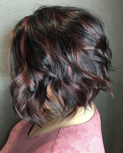 Ανταύγειες σε μαύρα μαλλιά (6)