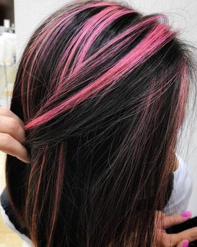 Ανταύγειες σε μαύρα μαλλιά (8)