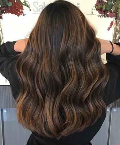 Ανταύγειες σε μαύρα μαλλιά (9)
