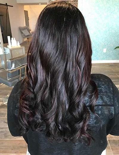 Ανταύγειες σε μαύρα μαλλιά (13)