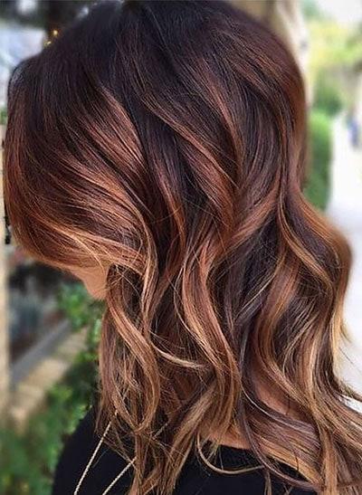 Ανταύγειες σε μαύρα μαλλιά (17)