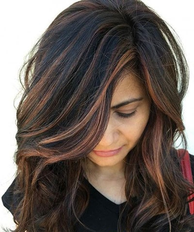 Ανταύγειες σε μαύρα μαλλιά (21)