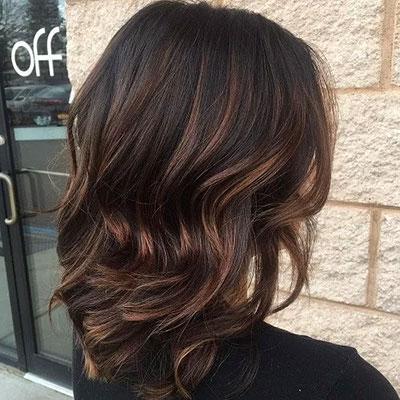 Ανταύγειες σε μαύρα μαλλιά (22)