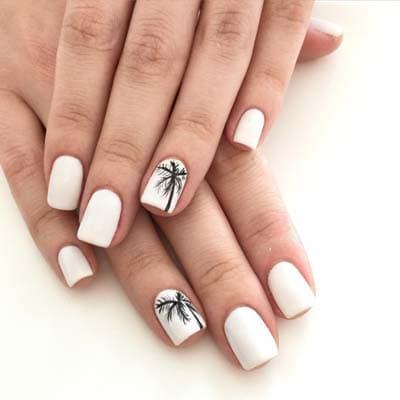 eb2195f3c99 Άσπρα νύχια για εντυπωσιακά καλοκαιρινά σχέδια μανικιούρ (1)