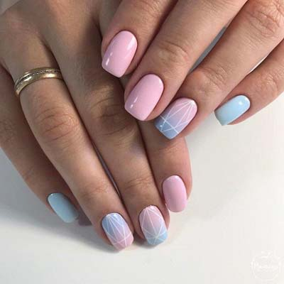 Διακριτικά σχέδια στα νύχια το καλοκαίρι (5)