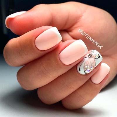 Λαμπερά καλοκαιρινά νύχια με στρας και άλλα τρισδιάστατα διακοσμητικά (3)