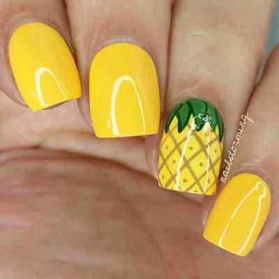Κίτρινα σχέδια για εντυπωσιακά νύχια καλοκαιρινά (1)