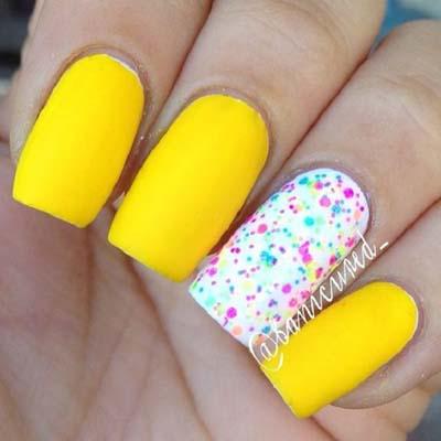 Κίτρινα σχέδια για εντυπωσιακά νύχια καλοκαιρινά (4)