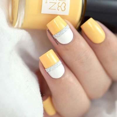 Κίτρινα σχέδια για εντυπωσιακά νύχια καλοκαιρινά (5)