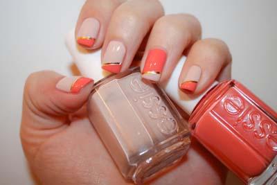 Καλοκαιρινά σχέδια στα νύχια με κοραλί μανό (2)