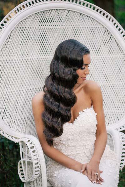 Απλά νυφικά χτενίσματα με κάτω τα μαλλιά (1)