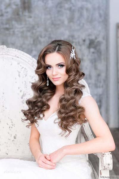 Απλά νυφικά χτενίσματα με κάτω τα μαλλιά (5)