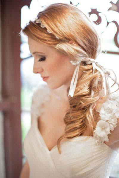 Ρομαντικά νυφικά χτενίσματα για μακριά μαλλιά με κορδέλα (4)