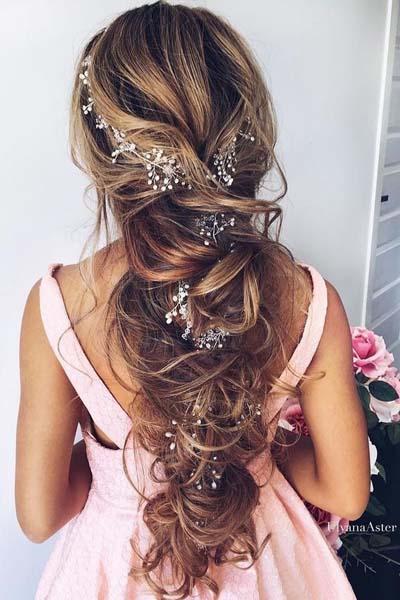 Νυφικά χτενίσματα με πλεξούδες για μακριά μαλλιά (2)