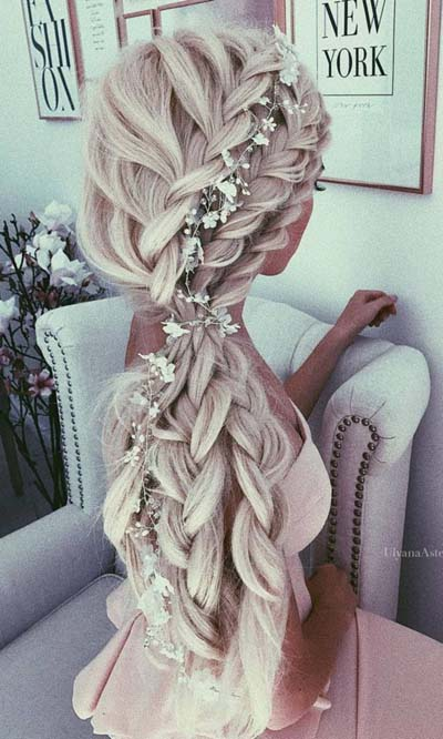 Νυφικά χτενίσματα με πλεξούδες για μακριά μαλλιά (3)