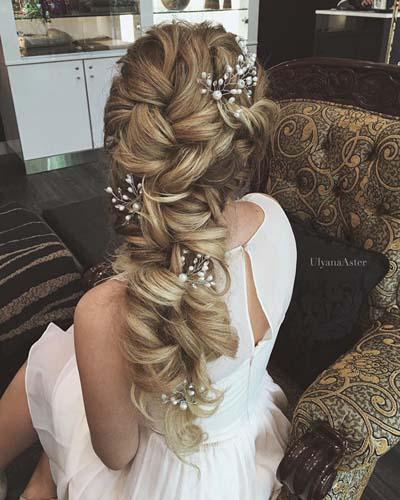 Νυφικά χτενίσματα με πλεξούδες για μακριά μαλλιά (5)