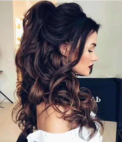 Νυφικά χτενίσματα για μακριά μαλλιά με μπούκλες (4)