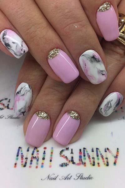 Νύχια για το καλοκαίρι σε ροζ αποχρώσεις (2)