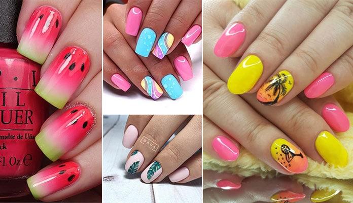 Σχέδια νυχιών στα πιο καλοκαιρινά χρώματα
