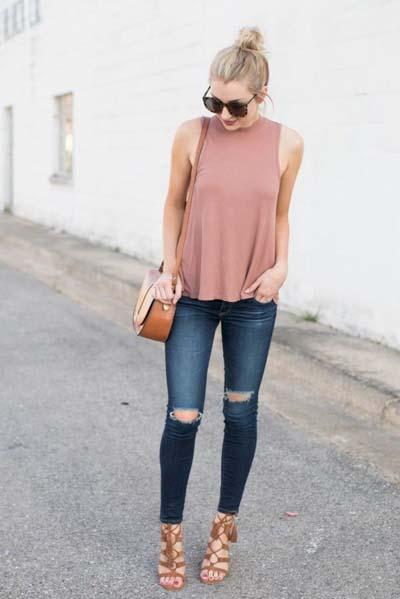 Καλοκαιρινοί συνδυασμοί ρούχων με τζιν (4)
