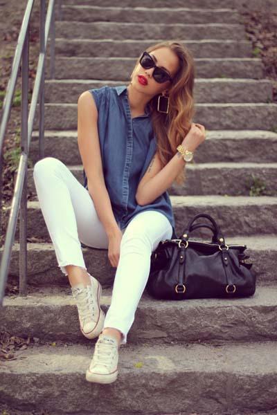 Καλοκαιρινοί συνδυασμοί ρούχων με τζιν (5)