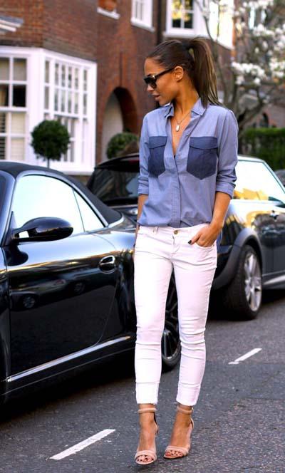 Καλοκαιρινοί συνδυασμοί ρούχων με τζιν (9)