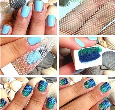 Γοργονέ νύχια - Mermaid nails (2)
