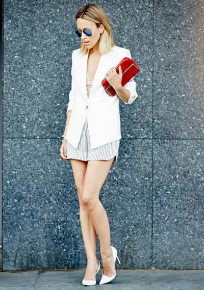 Συνδυασμοί για ντύσιμο με άσπρο σακάκι (1)