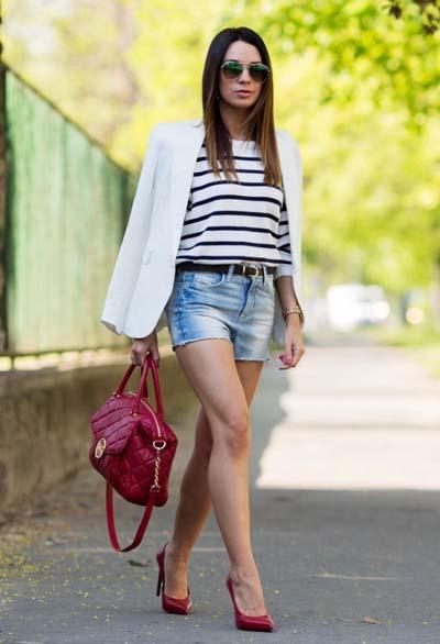 Συνδυασμοί για ντύσιμο με άσπρο σακάκι (3)