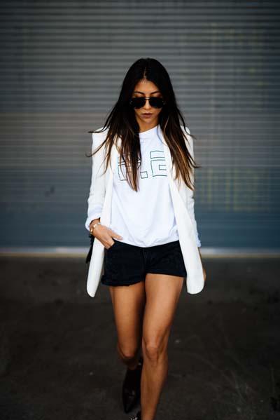 Συνδυασμοί για ντύσιμο με άσπρο σακάκι (8)