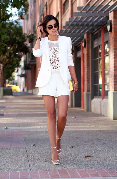 Συνδυασμοί για ντύσιμο με άσπρο σακάκι (10)
