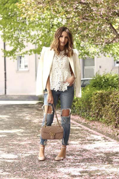 Συνδυασμοί για ντύσιμο με άσπρο σακάκι (11)