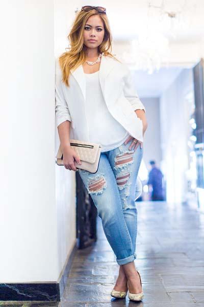 Συνδυασμοί για ντύσιμο με άσπρο σακάκι (12)