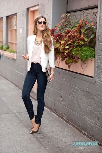 Συνδυασμοί για ντύσιμο με άσπρο σακάκι (13)