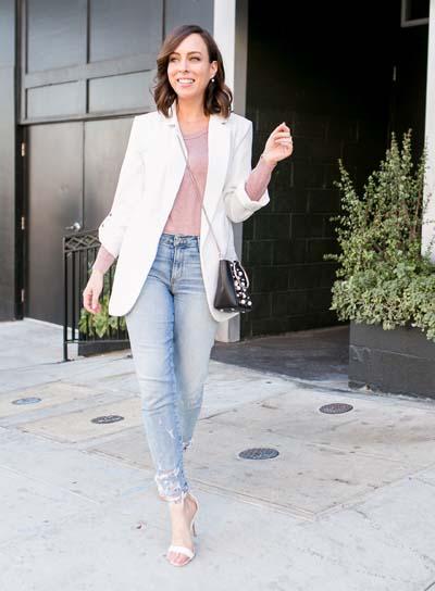 Συνδυασμοί για ντύσιμο με άσπρο σακάκι (17)