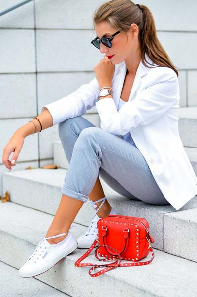 Συνδυασμοί για ντύσιμο με άσπρο σακάκι (19)