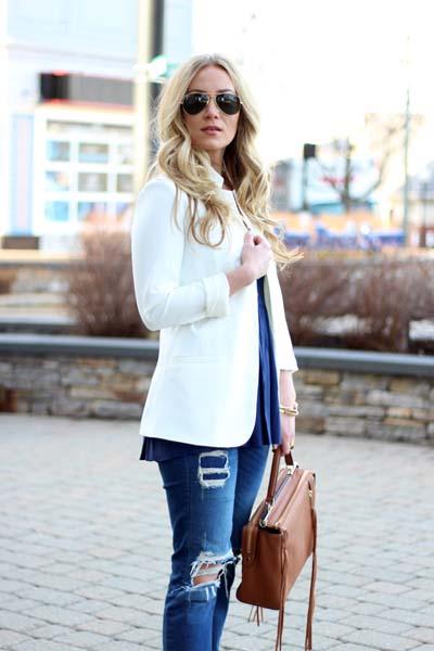 Συνδυασμοί για ντύσιμο με άσπρο σακάκι (20)