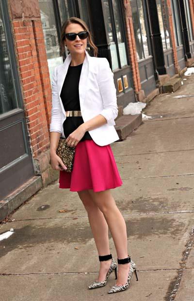 Συνδυασμοί για ντύσιμο με άσπρο σακάκι (22)