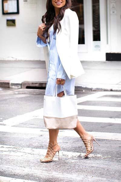 Συνδυασμοί για ντύσιμο με άσπρο σακάκι (31)