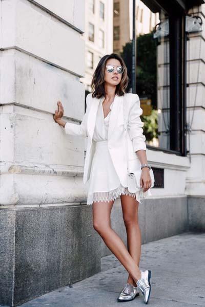 Συνδυασμοί για ντύσιμο με άσπρο σακάκι (32)